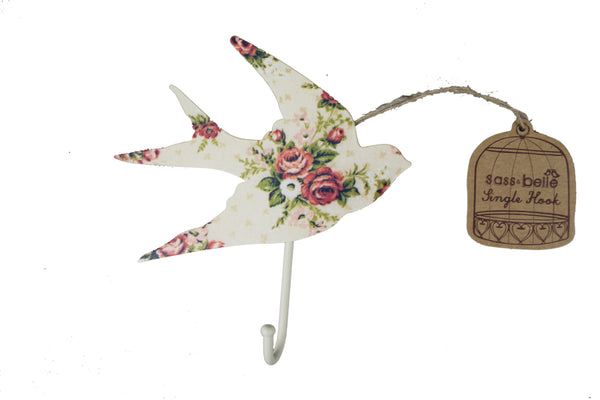 Floral Bird Wall Hook