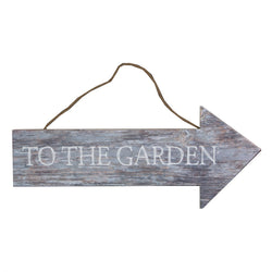TO THE GARDEN HANGING COASTAL CHIC SIGN