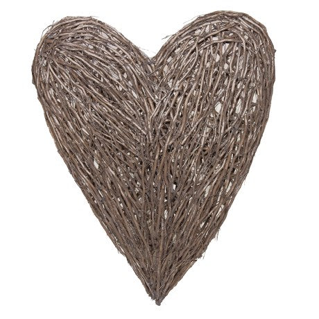 Extra Large Wood Wicker Heart