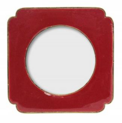 Maroon Metal Enamel Square Picture Frame 10.5x10.5x0.5cm