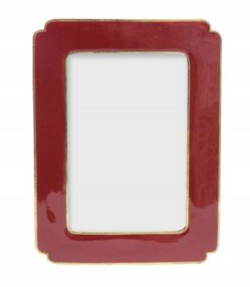 Maroon Metal Enamel Pectangle Picture Frame 14.5x19.5x1cm