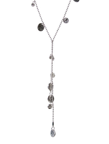 Olia Luna Hammered Coins Necklace – Silver