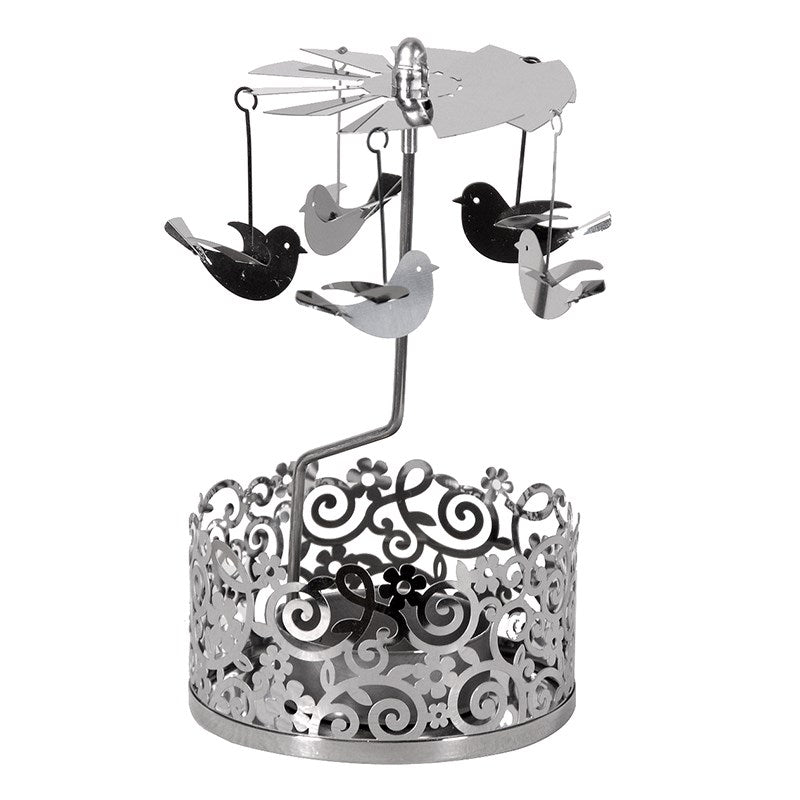 Silver Doves Tealight Mobile