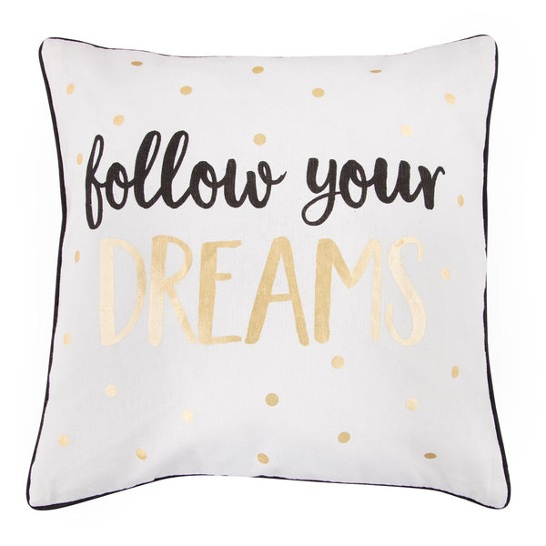 Dreams Metallic Monochrome Cushion With Inner