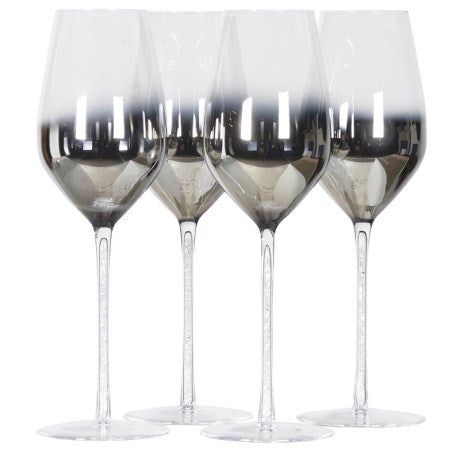 Silver Fade Crystal Wine Glass