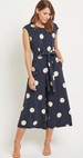 Vila Navy Polka Dot Jumpsuit
