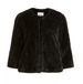 Vila Vifoxy Black Faux Fur Jacket