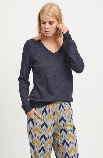 Vila Viril V-neck Knitted Pullover Jumper