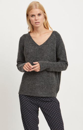 Vila Viplace V-neck Knitted Pullover Jumper