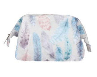 Feather Print PVC Make-up Bag