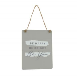 Be Happy....Grey Wooden Plaque