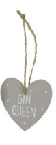 Grey Wooden Hanging Hearts