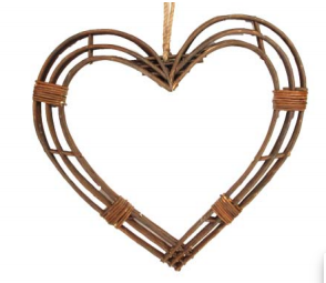 Twig Framed Heart - Ex Large