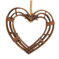Twig Framed Heart - Medium