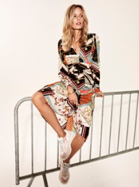 Vila Vinala Multi Pattern Dress