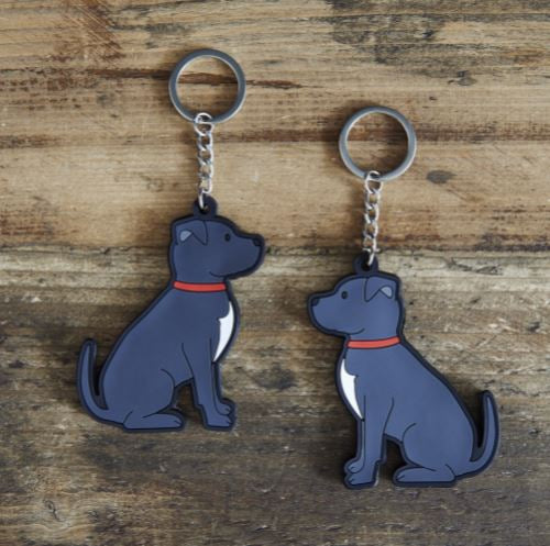 Staffie Keyring by Sweet William