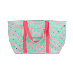 TROPICAL SUMMER FLAMINGO SHOPPER BAG