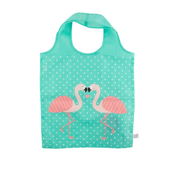 Tropical Flamingo Foldable Shopper Bag