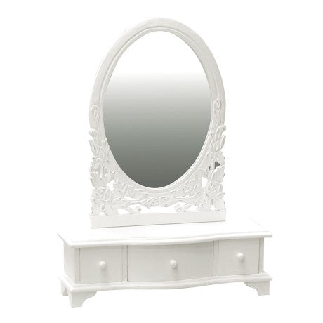 White Belgravia Dressing Table Mirror Unit | Wysteria Lane