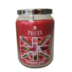 Prices British Range Windsor Rose Large Candle