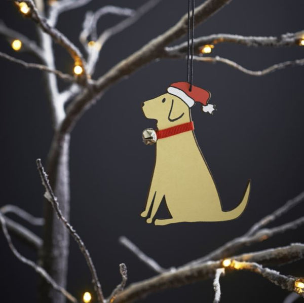 Yellow Labrador Dog Christmas Tree Decoration by Sweet William