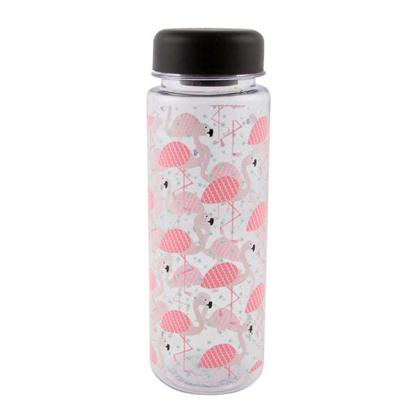 TROPICAL FLAMINGO CLEAR WATER BOTTLE