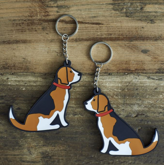 Beagle Dog Keyring by Sweet William