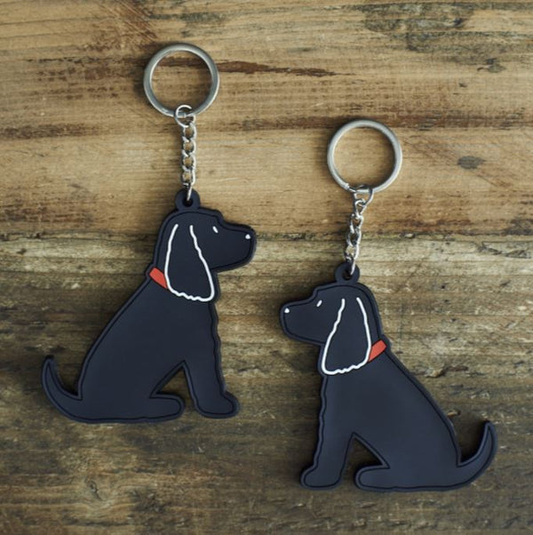 Black Cocker Spaniel Dog Keyring by Sweet William