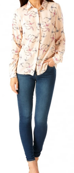 Sugarhill Boutique Pink Blair Bird Shirt
