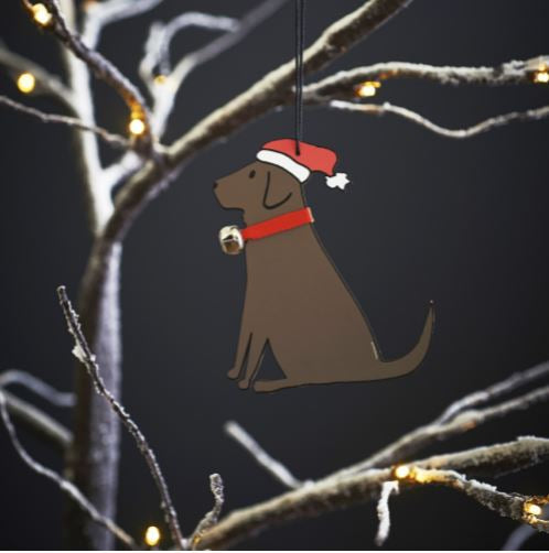 Chocolate Labrador Dog Christmas Tree Decoration by Sweet William