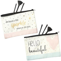 Chloe Makeup Bags - 'Hello Beautiful' & 'She Leaves a Little Sparkle'