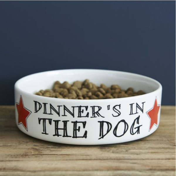 Dinners In The Dog Large Dog Bowl by Sweet William