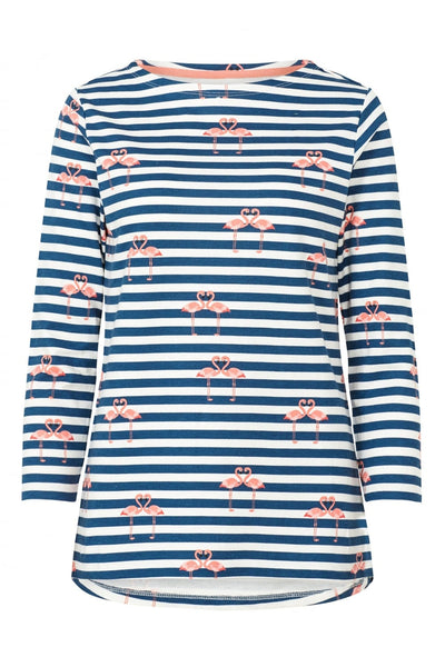 Sugarhill Boutique Flamingo Striped Long Sleeve Top