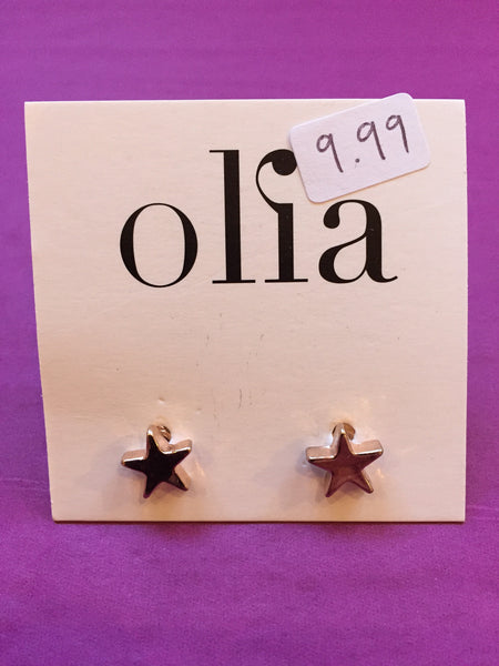 Olia Rose Gold Star Stud Earrings