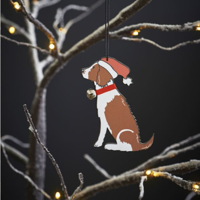 Springer Spaniel Liver Tan Dog Christmas Tree Decoration by Sweet William