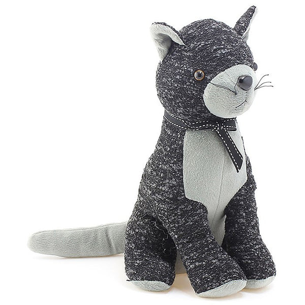 Grey Cat Felt Doorstop
