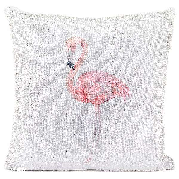 Flamingo Magic Sequin Cushion