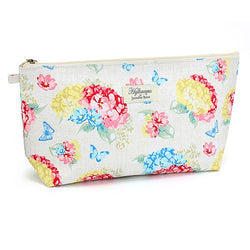 Hydrangea Floral Makeup / Cosmetics Bag