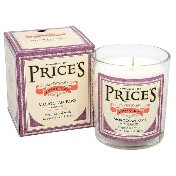 Prices Moroccan Rose Scented Candle