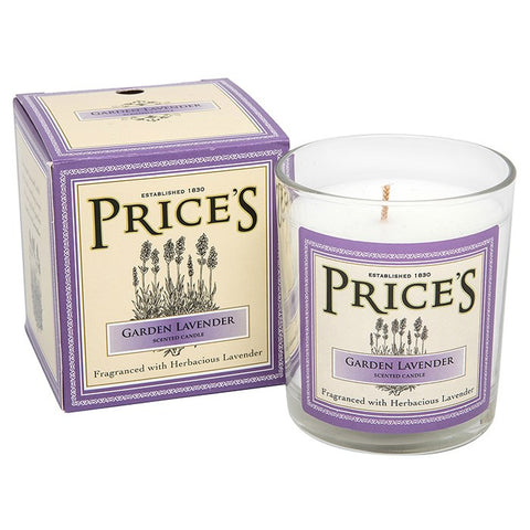 Prices Garden Lavender Candle