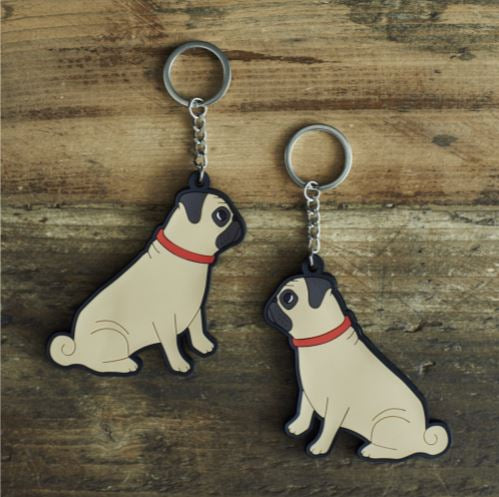 Pug Keyring by Sweet William