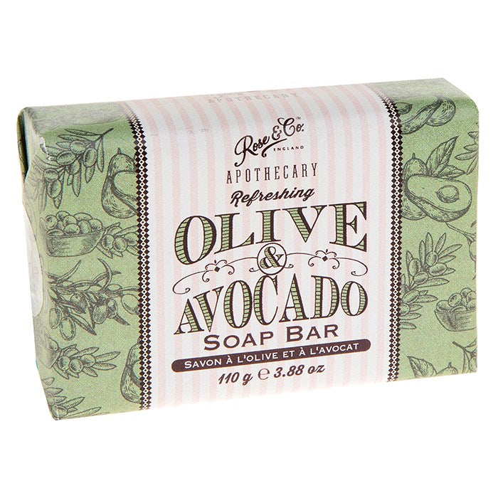Rose & Co. Olive & Avocado Apothecary Soap Bar - 110g