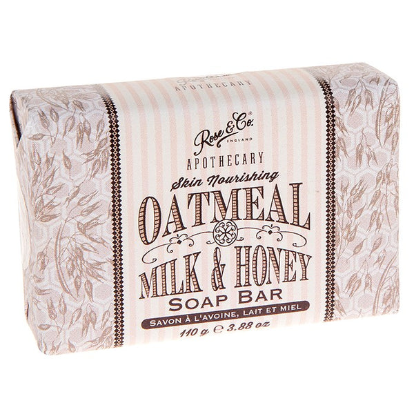 Rose & Co. Oatmeal, Milk & Honey Apothecary Soap Bar - 110g