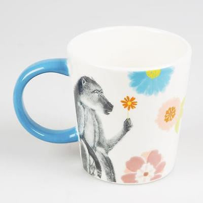 Floral Monkey Safari Mug
