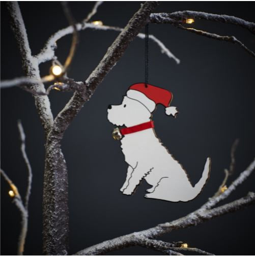 Westie Dog Christmas Tree Decoration by Sweet William