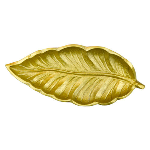 Leaf Medium brass