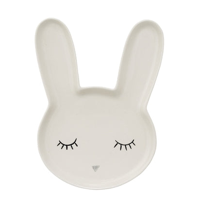 Bloomingville Smila plate rabbit white stoneware