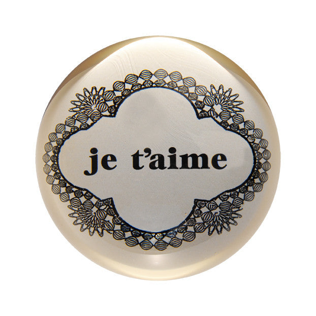 Sugarboo Paperweight Je t'aime - NO CHAOS & CO - 1