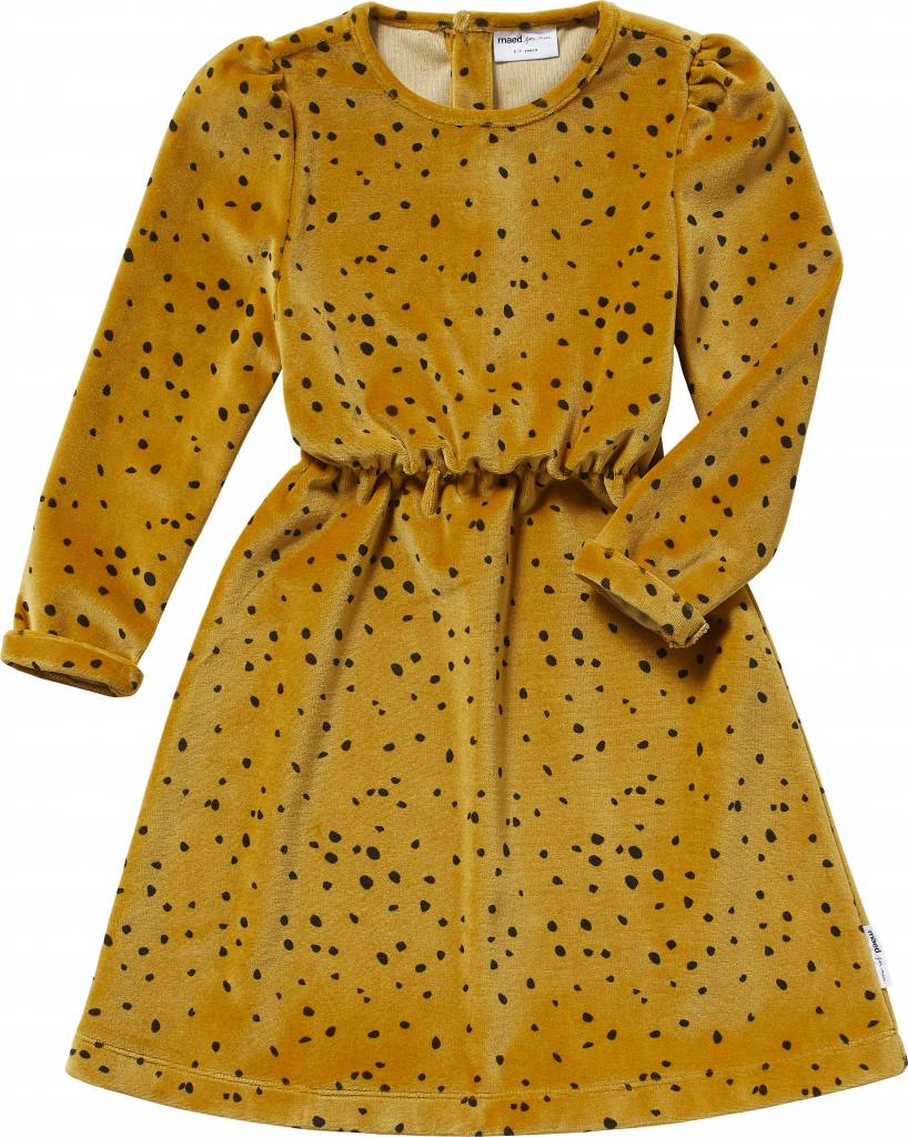 Maed for Mini Yellow Leopard Dress