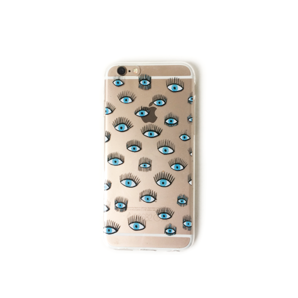 "NO CHAOS AMSTERDAM Iphone case ""I have my eyes on you'"